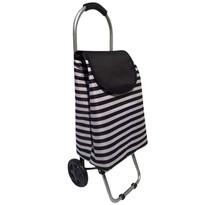 Nákupní taška na kolečkách Černý pruh, 87 cm
