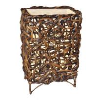 Stolná lampa bambusová rovná
