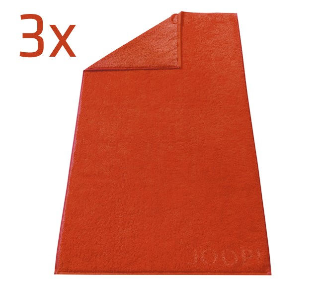 Ručník Doubleface JOOP!, červená, sada 3 ks,  50 x 100 cm