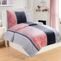 Lenjerie de pat Rozalia, din micro-pluș, 140 x 200 cm, 70 x 90 cm