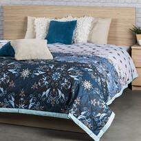 Cuvertură de pat Alberica albastră, 160 x 220 cm