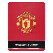 Manchester United Címer fleece  pléd, 130 x 170 cm