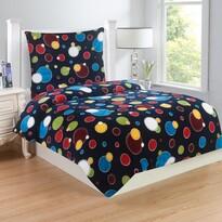 Lenjerie de pat Bubbles, din micro-pluș, 140 x 200 cm, 70 x 90 cm