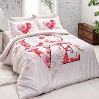 Halley home Pościel bawełniana Love Amore, 140 x 200 cm, 60 x 80 cm