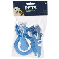 Sada hračiek pre šteňatá modrá, 4 ks