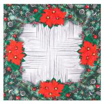 Vianočný obrus Vianočné ruže, 85 x 85 cm