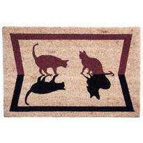 Kokosová rohožka Mačky tieň, 40 x 60 cm