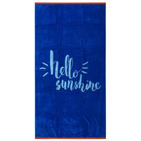 Plážová osuška Hello modrá, 90 x 170 cm