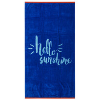 Prosop de plajă Hello albastru, 90 x 170 cm