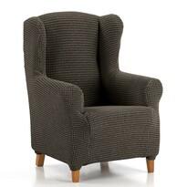 """Multielasztikus """"füles"""" fotel huzat szett, barna, 70 - 110 cm"""