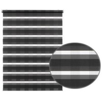 Roleta easyFix Karo dvojtá antracit, 100 x 150 cm