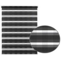 Roleta easyfix Karo podwójna antracyt, 100 x 150 cm