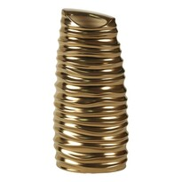Keramická váza metailická zlatá, 30 cm