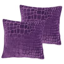 4Home obliečka na vankúšik fialová, 40 x 40 cm, sada 2 ks