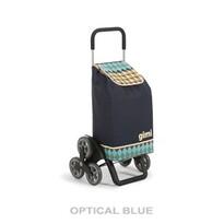 Gimi Tris Optical nákupní taška na kolečkách modrá