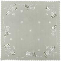 Vánoční ubrus chaloupky šedá, 35 x 35 cm