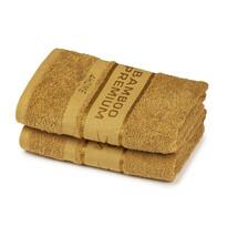 4Home Bamboo Premium ręczniki jasnobrązowy, 50 x 100 cm, 2 szt.