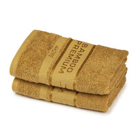 Set 2 prosoape 4Home Bamboo Premium maro deschis, 2x 50 x 100 cm