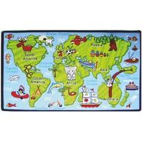 Dywan dziecięcy Kids Kontynenty, 100 x 150 cm