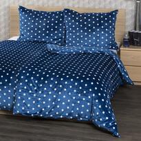 Lenjerie pat 1 pers., 4Home, microflanel Stars albastru, 160 x 200 cm, 2x 70 x 80 cm