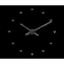 Zegar ścienny Lavvu 3D czarny, śr. 73 cm