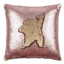 Poduszka z cekinami różowy, 45 x 45 cm