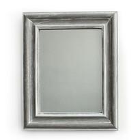Zrcadlo v dřevěném rámu Caruso, šedá