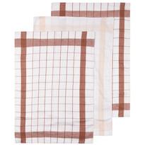Linen konyharuha barna, 50 x 70 cm, 3 db-os szett