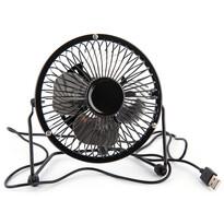 USB ventilátor, fekete, 13,5 x 11 x 15 cm