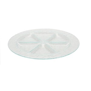 Tavă de servit Excellent, din sticlă, 6 sectoare diam. 35 cm