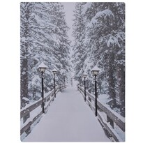 Tablou cu LED-uri Winter, 40 x 30 cm
