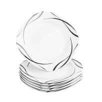 Domestic 6-dielna sada dezertných tanierov Oslo, 20,5 cm