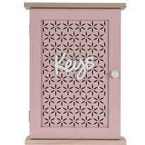 Skrinka na kľúče Trento ružová, 28 x 20 cm