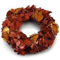 Jesenný veniec Billet hnedá, pr. 25 cm