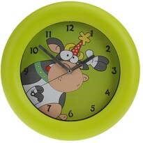 Zegar ścienny Cowie zielony, 26 cm