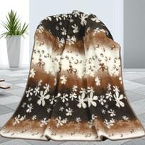 Vlněná deka Květy, 155 x 200 cm