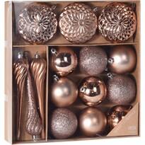 Sada vianočných ozdôb Tolentino medená, 15 ks