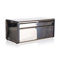 Banquet Quadra rozsdamentes acél kenyértartó, 39,5 x 20,5 x 18 cm, fekete szegély