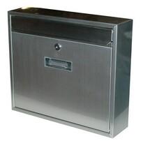 Poštová nerezová schránka Radim strieborná, 36 cm