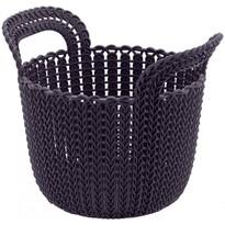 Curver Úložný box Knit okrúhly 3 l, tmavofialová