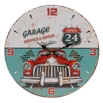 Nástenné hodiny Červené auto, priemer 33 cm
