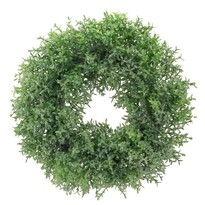 Kakukkfű műkoszorú, zöld, átmérő: 28 cm