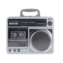 Puszka blaszana Radio, szary