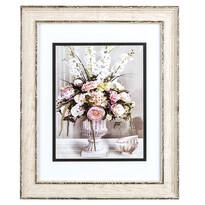 Obrázek kytice květin a misky Rose, 32 x 39 cm