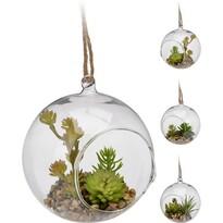 Dekorációs üveggömb, 13 cm