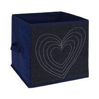 Cutie de depozitare Heart, din material textil, 27 x 27 x 27 cm