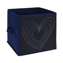 Pudełko tekstylne Heart, 27 x 27 x 27 cm