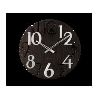 Nástenné hodiny Lavvu Style Black Wood, pr. 40 cm