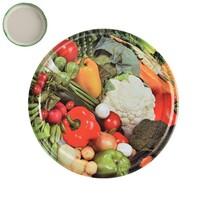 Viečko na zaváracie pohári Zelenina 8,5 cm, 10 ks