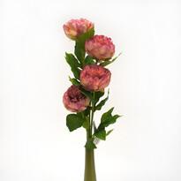 Umelá kvetina pivoňka ružová sada 4 ks